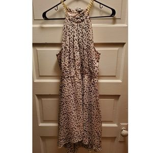 Hi-lo Leopard Halter Dress